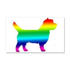 Cairn Terrier Rainbow Car Magnet 20 x 12