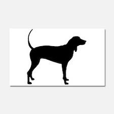 Coonhound Car Magnet 20 x 12