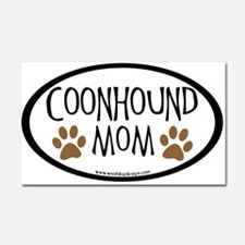 Coonhound Mom Oval Car Magnet 20 x 12