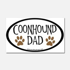 Coonhound Dad Oval Car Magnet 20 x 12