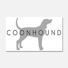 Coonhound (Grey) Dog Breed Car Magnet 20 x 12