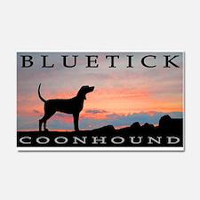 Bluetick Coonhound Sunset Car Magnet 20 x 12