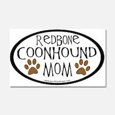 Redbone Coonhound Mom Oval Car Magnet 20 x 12