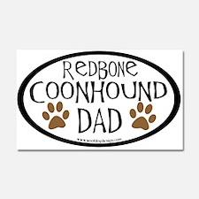 Redbone Coonhound Dad Car Magnet 20 x 12