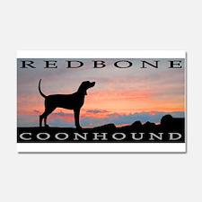 Redbone Coonhound Sunset Car Magnet 20 x 12