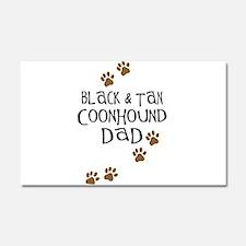 Black & Tan Coonhound Dad Car Magnet 20 x 12