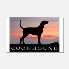 Sunset Coonhound Car Magnet 20 x 12