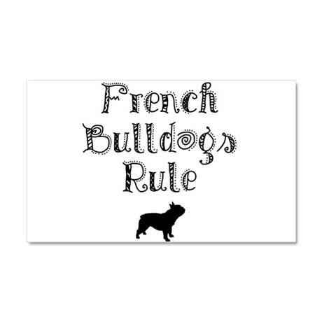 French Bulldogs Rule Car Magnet 20 x 12