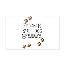 French Bulldog Grandma Car Magnet 20 x 12