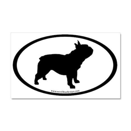 French Bulldog Oval Car Magnet 20 x 12