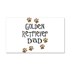 Golden Retriever Dad Car Magnet 20 x 12
