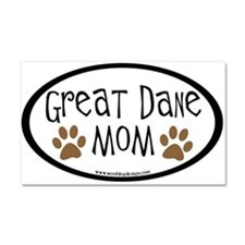 Great Dane Mom Oval Car Magnet 20 x 12