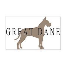 great dane greytones Car Magnet 20 x 12