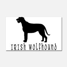 Irish Wolfhound w/ Text #2 Car Magnet 20 x 12