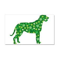 Shamrocks Irish Wolfhound Car Magnet 20 x 12