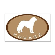 Kuvasz (brown oval) Car Magnet 20 x 12