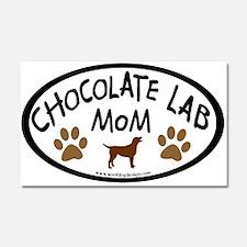 Chocolate Lab Mom Car Magnet 20 x 12