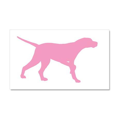 Pink Pointer Dog Car Magnet 20 x 12