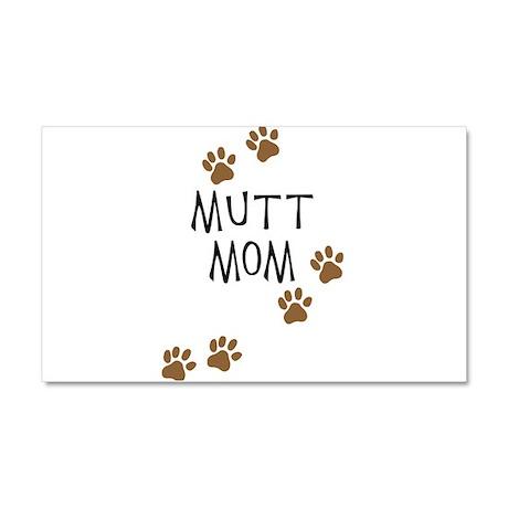 Mutt Mom Car Magnet 20 x 12