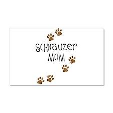 Paw Prints Schnauzer Mom Car Magnet 20 x 12