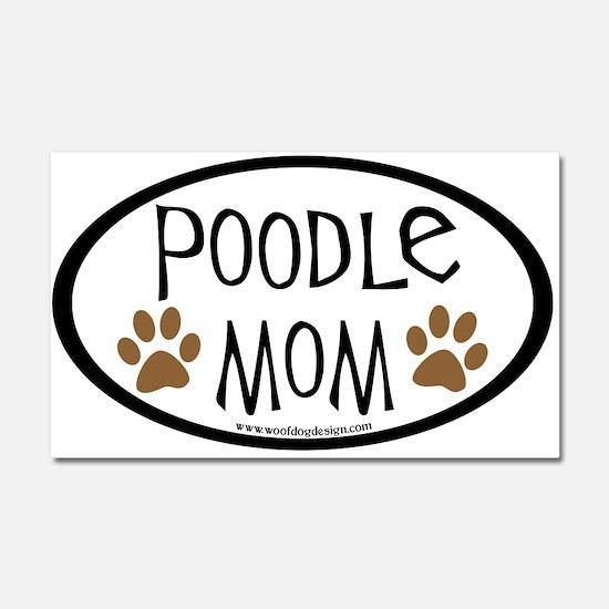 Poodle Mom Oval Car Magnet 20 x 12