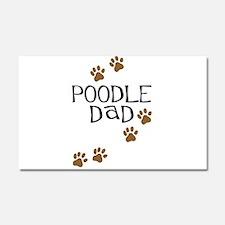 Poodle Dad Car Magnet 20 x 12