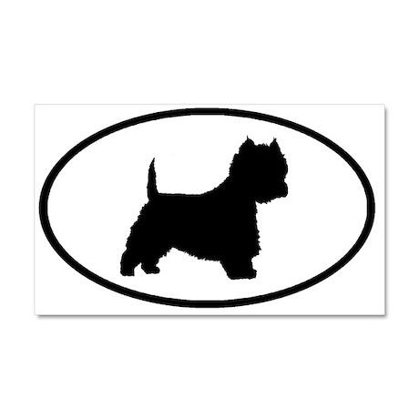 West Highland Terrier Oval Car Magnet 20 x 12