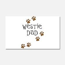 Westie Dad Car Magnet 20 x 12