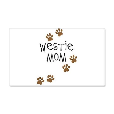 Westie Mom Car Magnet 20 x 12