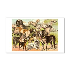 Dog Group From Antique Art Car Magnet 20 x 12