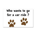 Paw Prints Dog Car Ride Car Magnet 20 x 12