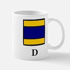 Nautical Letter D Mug