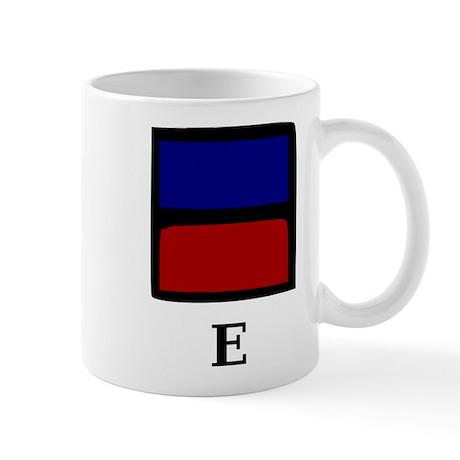 Nautical Letter E Mug