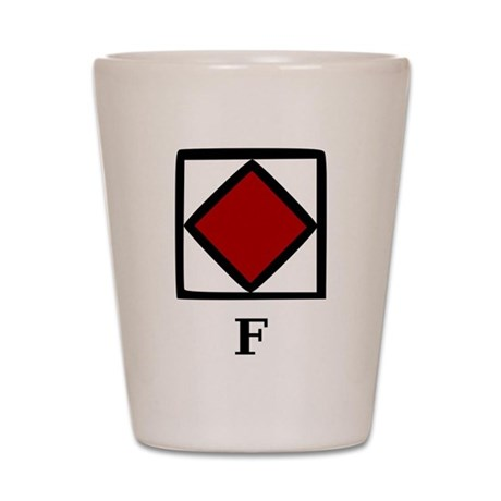 Nautical Letter F Shot Glass