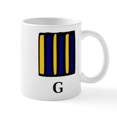 Nautical Letter G Mug