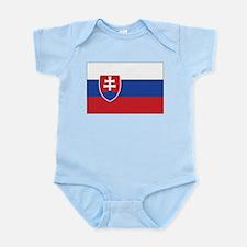 Slovakia Flag Infant Creeper