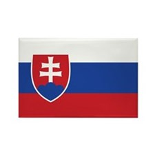 Slovakia Flag Rectangle Magnet