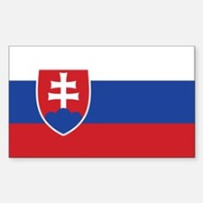 Slovakia Flag Rectangle Decal