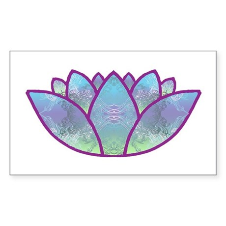 Lotus Sticker (Rectangle)