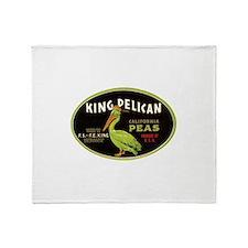 King Pelican Peas Throw Blanket