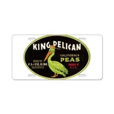 King Pelican Peas Aluminum License Plate