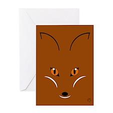 Fox Face Greeting Card