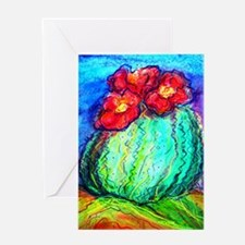 Cactus, Southwest, art, Greeting Card