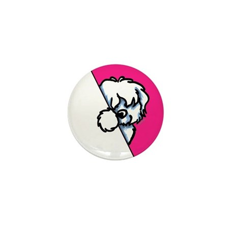 Peeking Coton de Tulear Mini Button (100 pack)