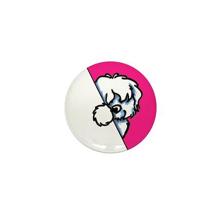 Peeking Coton de Tulear Mini Button