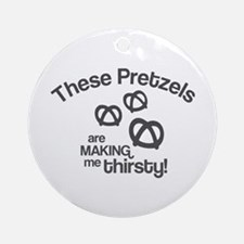 These Pretzels Are Making Me Ornament (Round)