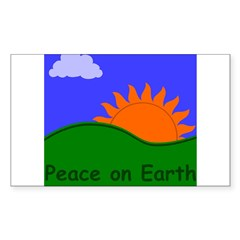 Peace on Earth Rectangle Decal