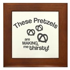 These Pretzels Are Making Me Framed Tile