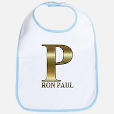 Gold P for Ron Paul 2012 Bib