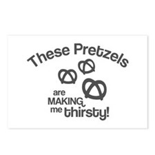 These Pretzels Are Making Me Postcards (Package of